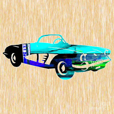 Sports Cars Mixed Media - Classic Corvette by Marvin Blaine