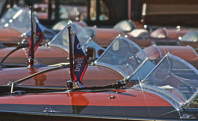 Photograph - Classic Gar Wood Runabouts by Steven Lapkin