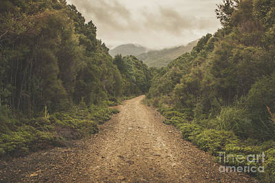 Classic Old Dirt Road Landscape In Australia Print by Jorgo Photography - Wall Art Gallery