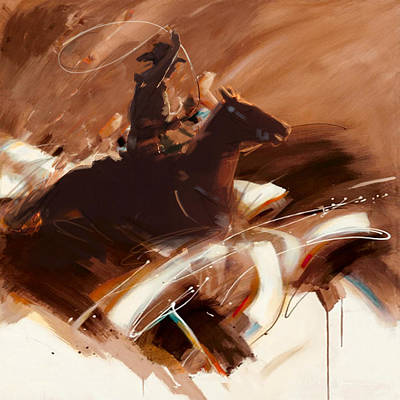 Chicago Oil Painting - Classic Rodeo 4b by Maryam Mughal