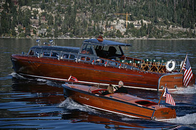 Photograph - Classic Tahoe Runabouts by Steven Lapkin