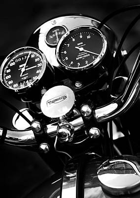 Triumph Bonneville Photograph - Classic Triumph by Mark Rogan