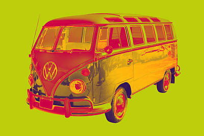 Hippie Van Digital Art - Classic Vw 21 Window Mini Bus by Keith Webber Jr