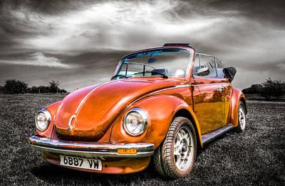 Classic Vw Beetle Art Print by Ian Hufton