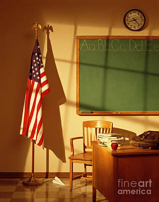 School Room Photograph - Classroom by Tony Cordoza