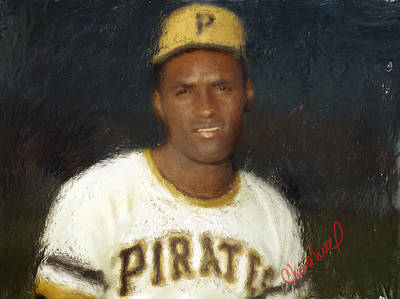 Roberto Clemente Digital Art - Clemente by Thomas Churchwell