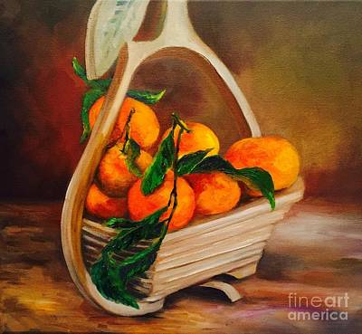 Painting - Clementines by Irene Pomirchy