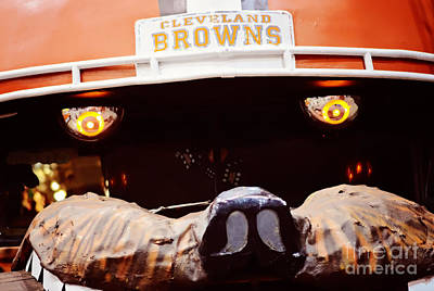 Photograph - Cleveland Browns by Rachel Barrett