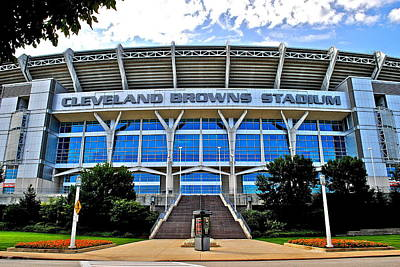 Cleveland Browns Stadium Art Print by Frozen in Time Fine Art Photography