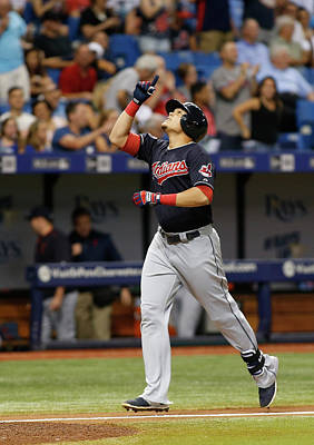 Photograph - Cleveland Indians V Tampa Bay Rays by Brian Blanco