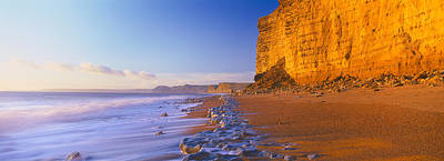 Dorset Photograph - Cliff On The Beach, Burton Bradstock by Panoramic Images