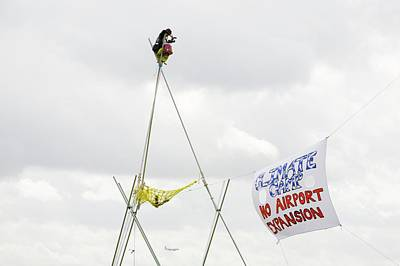 3rd Photograph - Climate Camp Protest by Ashley Cooper