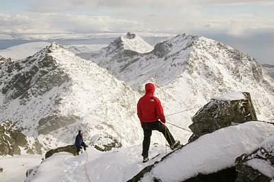 Enjoyment Photograph - Climber On Sgurr Alasdair by Ashley Cooper