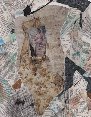 Carolyn Anderson Mixed Media - Clinging by Carolyn Anderson
