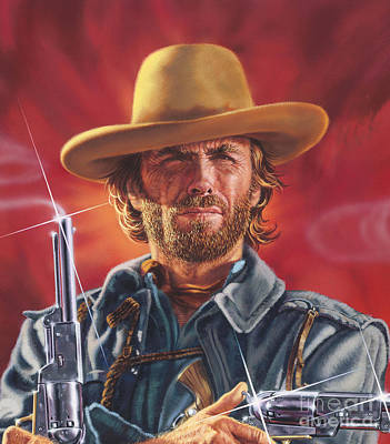 Painting - Clint Eastwood by Dick Bobnick