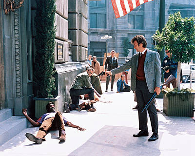 Clint Photograph - Clint Eastwood In Dirty Harry  by Silver Screen