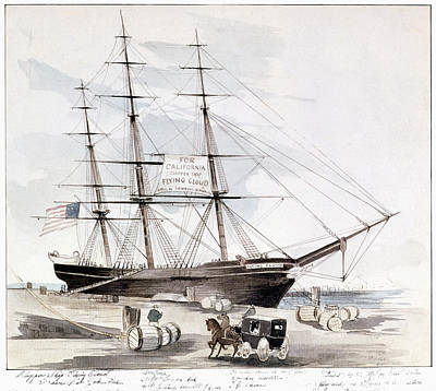 Wading River Painting - Clipper Flying Cloud, 1851 by Granger