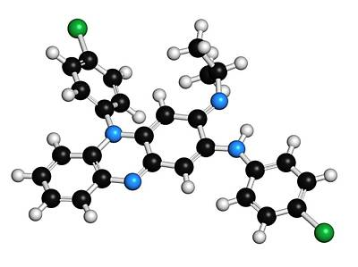Molecule Photograph - Clofazimine Leprosy Drug Molecule by Molekuul