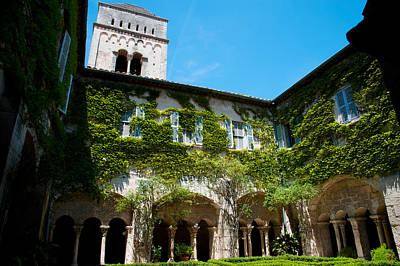 Provence Photograph - Cloister Of Ancient Monastere by Panoramic Images