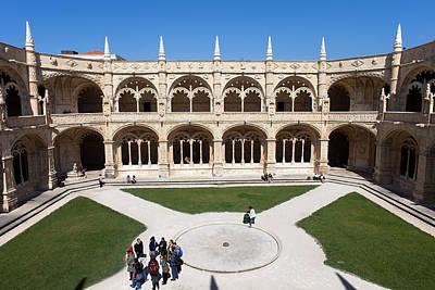 Courtyard Gallery Photograph - Cloister Of The Jeronimos Monastery In Lisbon by Artur Bogacki
