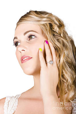 Painted Nails Photograph - Close-up Of A Gorgeous Bride by Jorgo Photography - Wall Art Gallery