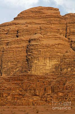 Close Up Of A Rocky Outcrop At Wadi Rum In Jordan Art Print by Robert Preston