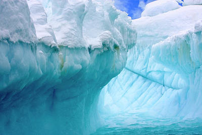 Stock Nature Photograph - Close Up Of Iceberg With Fluted by Miva Stock