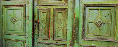 Romania Photograph - Closed Door Of A House, Sibiu by Panoramic Images