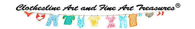 Clothesline Gallery Logo Art Print