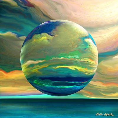 Abstract Landscape Digital Art - Clouding The Poets Eye by Robin Moline
