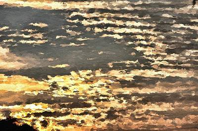 Photograph - Clouds In Sunset by Tom Culver