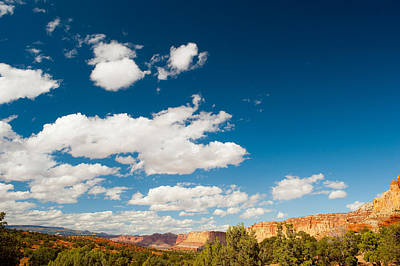 Clouds Over Capitol Reef National Park Art Print by Panoramic Images
