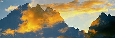 Clouds Over Mountain Range, Teton Art Print by Panoramic Images