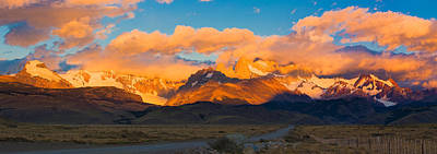 Fitz Photograph - Clouds Over Mountains At Sunrise, Monte by Panoramic Images