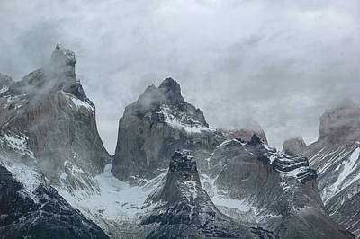 Patagonia Photograph - Clouds Over Snowcapped Mountains by Panoramic Images