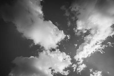 Photograph - Clouds Stratocumulus Blue Sky  Bw by Rich Franco