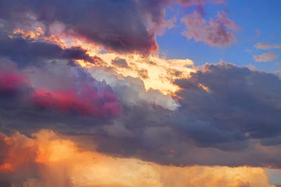 James Insogna Photograph - Cloudscape Sunset Touch Of Blue by James BO  Insogna