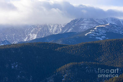 Steven Krull Royalty-Free and Rights-Managed Images - Cloudy Peak by Steven Krull