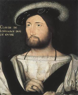Guise Photograph - Clouet, Jean 1475-1541. Portrait by Everett