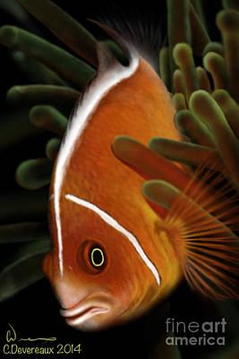 Clown Fish Digital Art - Clown Fish by Chuck Devereaux Art