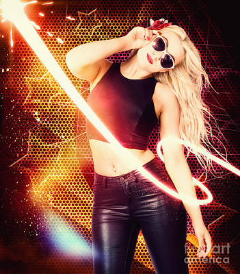 Photograph - Clubbing Trance Girl Dancing Around 70s Disco by Jorgo Photography - Wall Art Gallery