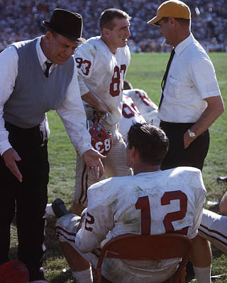 Arkansas Photograph - Coach Bear Bryant by Retro Images Archive