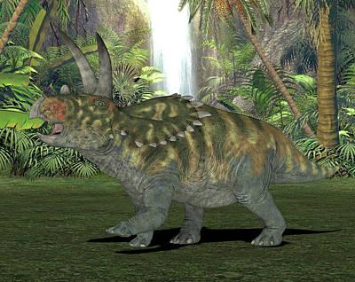 Paleozoology Photograph - Coahuilaceratops Dinosaur by Friedrich Saurer