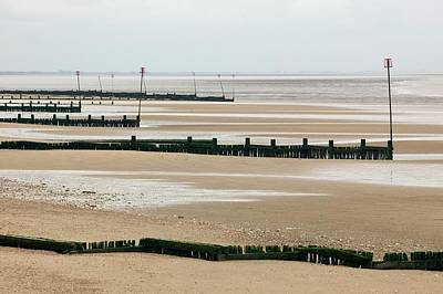 Coastal Defences Art Print by Colin Cuthbert/science Photo Library
