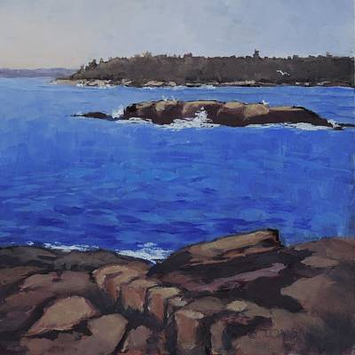 Painting - Coastal Waters-maine by Bill Tomsa