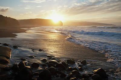 Ethereal Beach Scene Photograph - Coastline Of An Island In Portugal by Carl Bruemmer