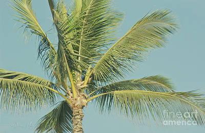 Digital Art - Cocos Nucifera - Niu - Palma - Po'olenalena Beach Maui Hawaii by Sharon Mau