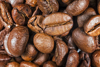 Coffee Beans Detail Art Print