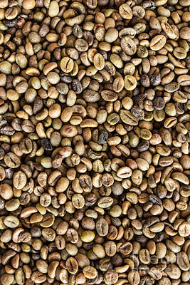Coffee Beans  Art Print by Tosporn Preede