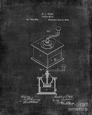 Old Grinders Digital Art - Coffee Grinder Patent by Edit Voros